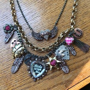 Betsey Johnson Chunky Ride with me Necklace